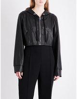 Natasha Zinko Cropped faux-leather jacket