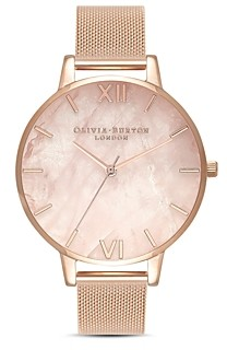 Olivia Burton Rose Quartz Dial Watch, 38mm