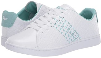 Lacoste Carnaby Evo 120 3 (White/Green) Women's Shoes
