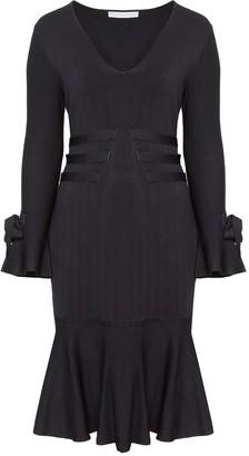 Jonathan Simkhai Exclusive Grommet Jacquard V-Neck Ruffle Dress