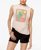 PROJECT SOCIAL T Cotton Cactus Graphic Muscle T-Shirt