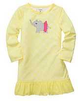 Carter's Girls' 2T-4T Yellow Polka-Dot Elephant Sleep Gown