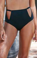 La Hearts Cutout High Waisted Bikini Bottom