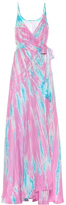 Anna Kosturova Exclusive to Mytheresa a Tie-dye silk maxi dress