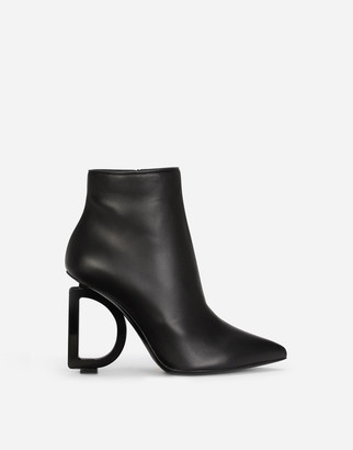 Dolce & Gabbana Nappa Leather Ankle Boots With Heel