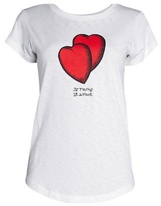 Zadig & Voltaire Skinny Hearts T-Shirt