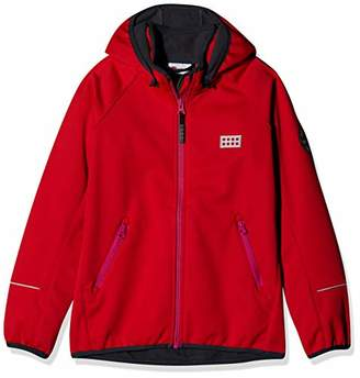 Lego Wear Girl's Tec Unisex Lwsiam 700-Softshelljacke Jacket, (Red 361)