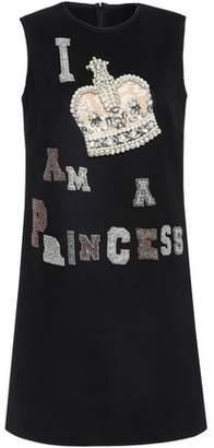 Dolce & Gabbana Appliqued Wool-felt Dress