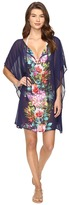 Tommy Bahama Watercolor Floral Tunic with Tassels