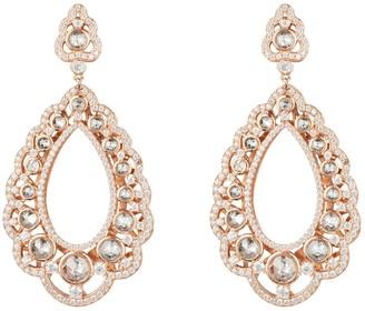 Latelita Marquess Regal Drop Earrings White Rosegold