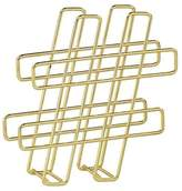Noble Supply Co. Hash Tag Icon Letter Rack - Gold