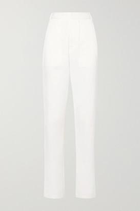 Tibi Sebastian Cotton-blend Twill Straight-leg Pants - White