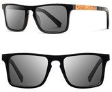 Shwood Men's 'Govy' 52Mm Polarized Wood Sunglasses - Black/ Maple/ Grey