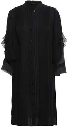 Elie Tahari Ruffled Silk-georgette And Crepe Mini Dress