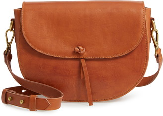 Madewell The Elsewhere Tie Leather Saddle Bag