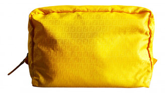 Fendi Yellow Synthetic Travel bags