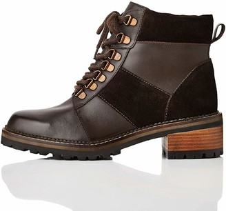 Find. Amazon Brand Leather Panelled Hiker Ankle Boots
