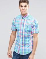 Polo Ralph Lauren Shirt In Poplin Multi Check Slim Fit Short Sleeves
