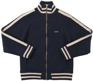 Chloé Wool & Cotton Knit Zip-up Jacket