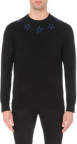 Givenchy embroidered stars wool jumper