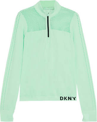 DKNY Perforated Stretch Top