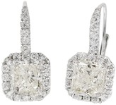 Peter Suchy 18K White Gold & Diamond Dangle Earrings