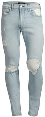 Hudson Zack Super Skinny Distressed Jeans