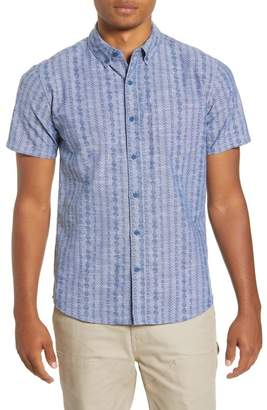 Hurley Stamps Short Sleeve Button-Down Shirt