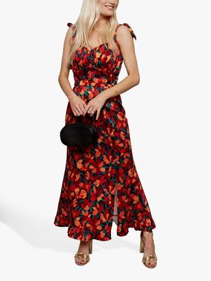 Little Mistress Floral Sleeveless Maxi Dress, Multi