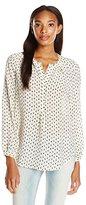 Lucky Brand Women's Woodstamp Silk Shirt
