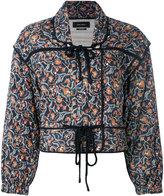 Isabel Marant quilted tie-up jacket - women - Cotton/Silk - 36