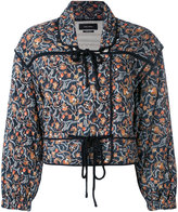 Isabel Marant quilted tie-up jacket - women - Silk/Cotton - 38