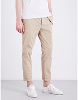 The Kooples Slim-fit Tapered Stretch-cotton Trousers