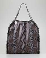 Stella McCartney Faux Python Falabella Tote Bag, Large