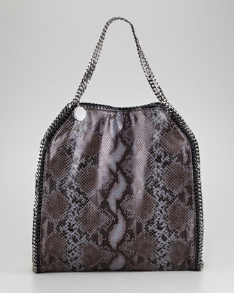 Stella McCartney Faux Python Falabella Tote Bag, Large
