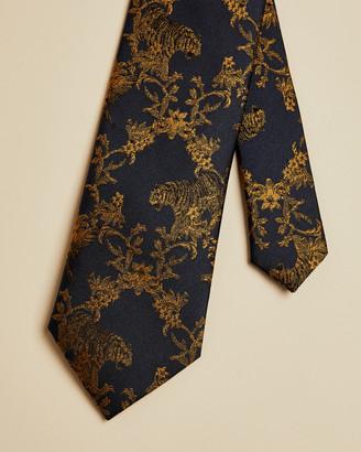 Ted Baker BARNRD Tiger print silk tie