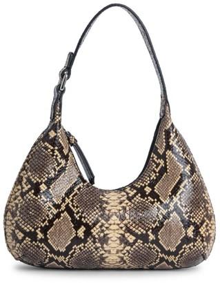 BY FAR Baby Amber Snakeskin-Embossed Leather Shoulder Bag