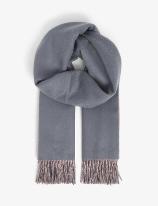 Johnstons Reversible personalised cashmere scarf