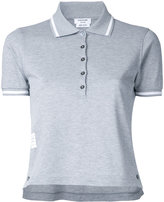 Thom Browne striped collar polo shirt - women - Cotton - 46
