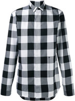 Christian Dior concealed fastening checked shirt