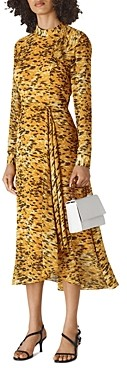 Whistles Ines Ikat Animal Print Dress