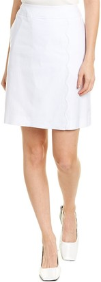 Sara Campbell Faux Wrap Scallop Skirt