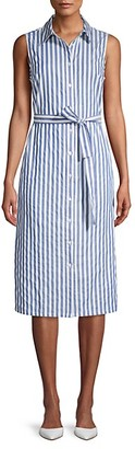 Tommy Hilfiger Striped Cotton Midi Shirt Dress