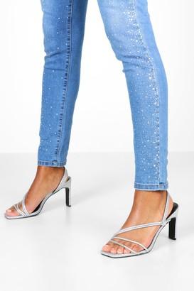boohoo Glitter Low Heel Sandals
