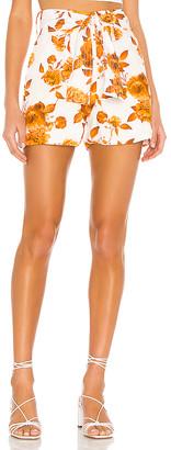 Karina Grimaldi Alina Print Linen Shorts