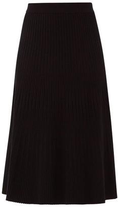 Altuzarra Ireene Rib-knitted Jersey Midi Skirt - Black