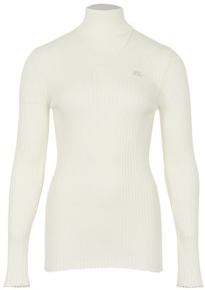 Courreges Long-sleeved cotton top
