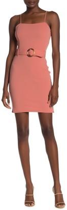Planet Gold Sleeveless Square Neck Mini Dress