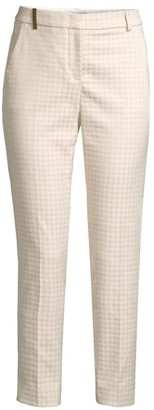Peserico Houndstooth Stretch Ankle Pants