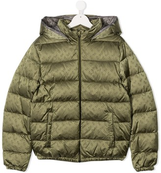 Herno All-Over Monogram Print Puffer Jacket